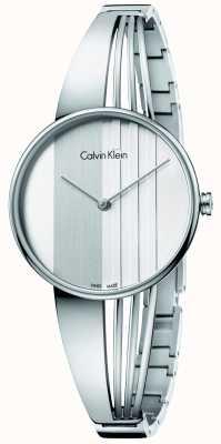 Calvin Klein Womens drift zilveren wijzerplaat K6S2N116