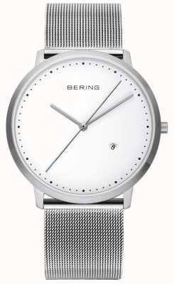 Bering Unisex zilver band witte wijzerplaat 11139-004