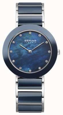 Bering Womans marine metalen band marine wijzerplaat 11435-787