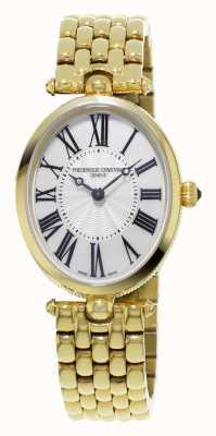 Frederique Constant Classics art deco vrouwen geel goud verguld parelmoer FC-200MPW2V5B