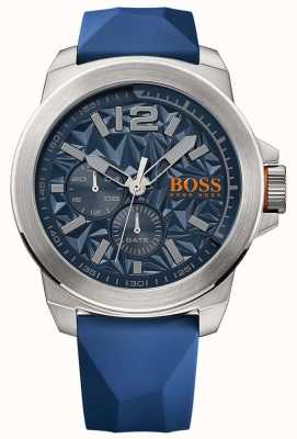 Hugo Boss Orange Mens blauwe rubberen band blauwe wijzerplaat 1513348