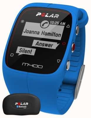 Polar Unisex m400 bluetooth gps (blauw met uur) activiteitstracker 90057189