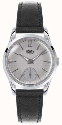Henry London Womans grijze wijzerplaat grijs lederen band HL30-US-0073