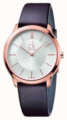 Calvin Klein Mens minimale bruine lederen band K3M216G6