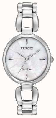 Citizen Dames roestvrij stalen armband parelmoer dial EM0420-54D