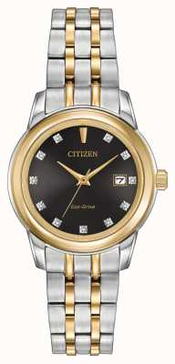 Citizen Vrouwen 11 diamond two tone roestvrij staal EW2394-59E