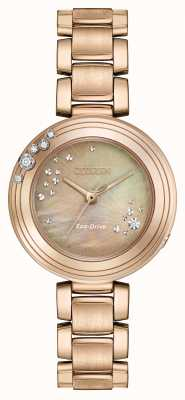 Citizen Womens eco-rijden zes diamanten verguld EM0463-51Y