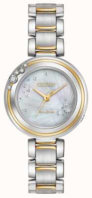 Citizen Vrouwen Carina diamond two tone EM0464-59D