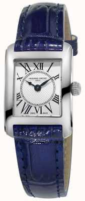 Frederique Constant Womens Carree blauw lederen band zilveren wijzerplaat FC-200MC16