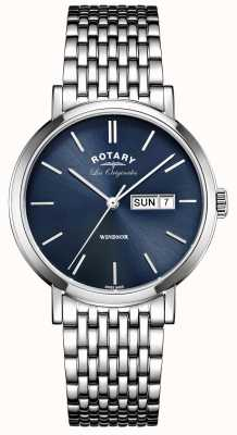 Rotary Mens les originales Windsor roestvrij staal GB90153/05