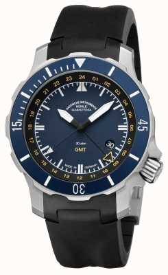 Muhle Glashutte Seebataillon GMT Indiase rubber band blauwe wijzerplaat M1-28-62-KB