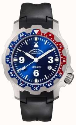 Muhle Glashutte Heren zwarte rubber horloge M1-28-82-KB