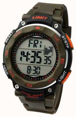 Limit Heren sport horloge kaki riem 5488.01