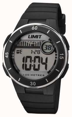 Limit Unisex zwarte band digitale wijzerplaat 5556.24