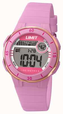 Limit Womans roze riem digitale wijzerplaat 5557.24
