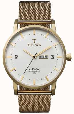 Triwa Unisex ivoor klinga gouden metaal metalen band KLST103-ME021313