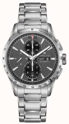 Hamilton Mens broadway automatische chronograaf zwarte wijzerplaat stalen band H43516131