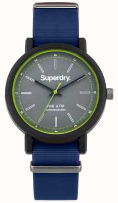 Superdry Mens campus neatness rubberen band grijze wijzerplaat SYG197U