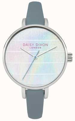 Daisy Dixon Womens kylie blauw lederen band veelkleurige wijzerplaat DD024US
