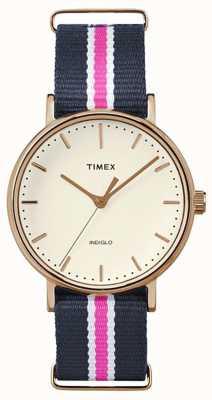 Timex Womans weekender fairfax marine roze riem TW2P91500