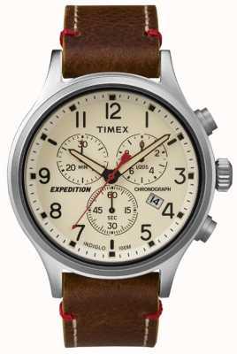 Timex Mens scout chronograaf cream dial TW4B04300