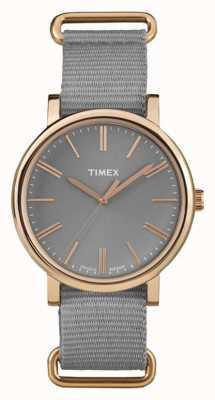 Timex Unisex grijze wijzerplaat grijze stof band TW2P88600