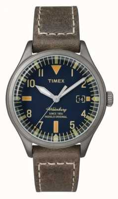 Timex UNISEX de Waterbury marine wijzerplaat bruine riem TW2P84400