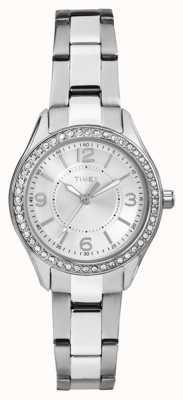 Timex Womans miami mini zilver roestvrij stalen band zilveren wijzerplaat TW2P79800