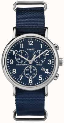 Timex Unisex weekender chronograaf marineblauw TW2P71300