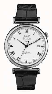 J&T Windmills Mens bartholomew mechanisch horloge sterling zilver WGS10000/08