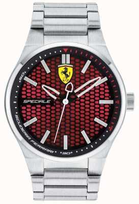 Scuderia Ferrari Mens Spéciale roestvrij stalen armband rode wijzerplaat 0830357