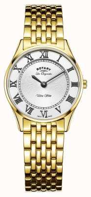 Rotary Womens les originales ultra slanke witte wijzerplaat LB90803/01
