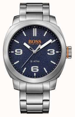 Hugo Boss Orange Mens cape town roestvrij stalen armband blauwe wijzerplaat 1513419
