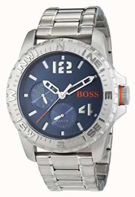 Hugo Boss Orange Mens reykjavik roestvrij stalen armband blauwe wijzerplaat 1513424