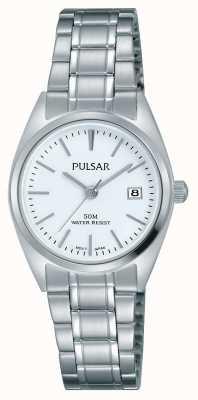 Pulsar Dames roestvrij stalen armband witte wijzerplaat PH7439X1