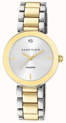 Anne Klein Vrouwen twee toon armband zilveren wijzerplaat AK/N1363SVTT