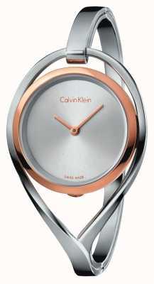 Calvin Klein Womens lichte kleine roestvrijstalen armband rose gouden hoesje K6L2SB16