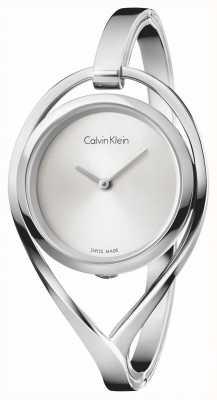 Calvin Klein Vrouwenlicht klein roestvrij staal armband zilveren wijzerplaat K6L2S116