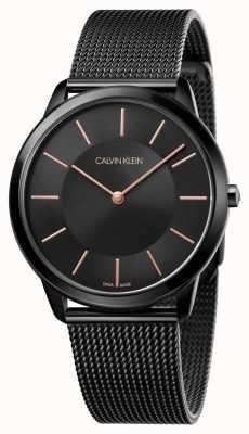 Calvin Klein Mannen minimale zwarte mesh band K3M21421