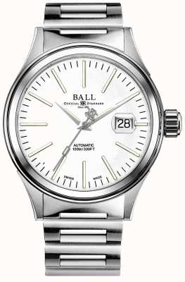 Ball Watch Company Mens brandweerman onderneming auto roestvrij stalen armband NM2188C-S5J-WH