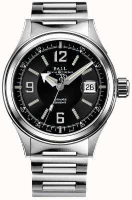 Ball Watch Company Brandweerman racer automatische roestvrijstalen armband zwarte wijzerplaat NM2088C-S2J-BKWH