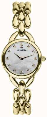 Michel Herbelin Womans waterval parelmoer zirconia dial 17475/BP59