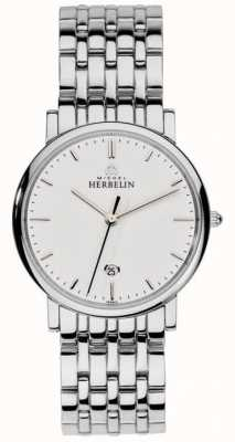 Michel Herbelin Heren roestvrij staal zilver gaas 12543/B11