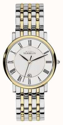 Michel Herbelin Heren two tone roestvrij staal zilver goud riem 12543/BT01