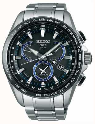 Seiko Astron gps titanium chronograaf op zonne-energie SSE101J1