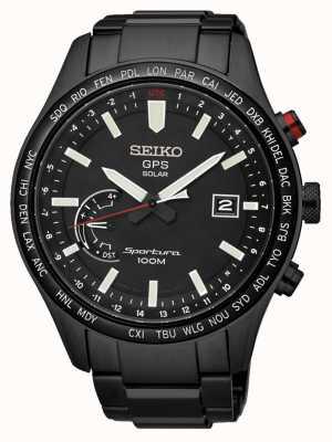 Seiko Sportura gps eeuwige zonne-chronograaf zwart ion-plated SSF005J1