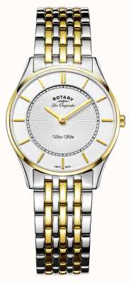 Rotary Womans ultraslim two tone roestvrij staal LB90801/41