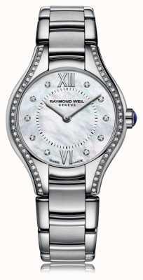 Raymond Weil Womans Noemia 62 diamanten parelmoeren wijzerplaat 5124-STS-00985