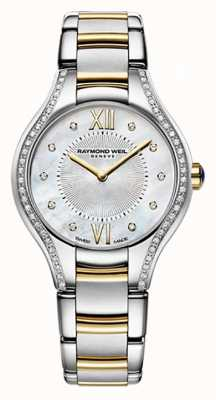 Raymond Weil Womans two tone Noemia 62 diamant parelmoer 5124-SPS-00985