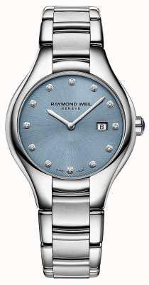 Raymond Weil Dames noemia 12 diamant blauwe wijzerplaat 5132-ST-50081